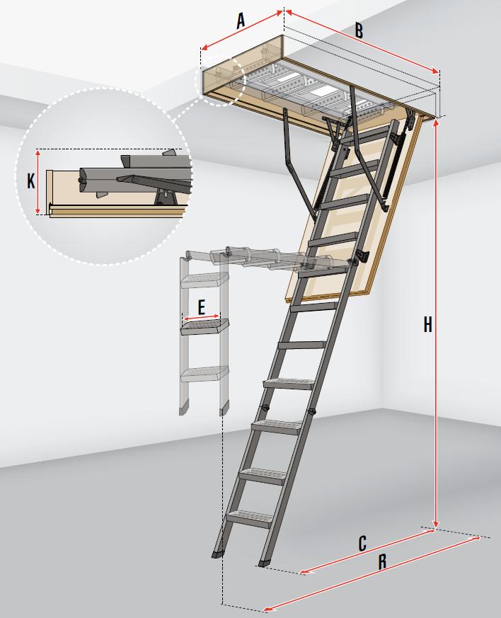 Fakro Loft Ladder Lms Smart