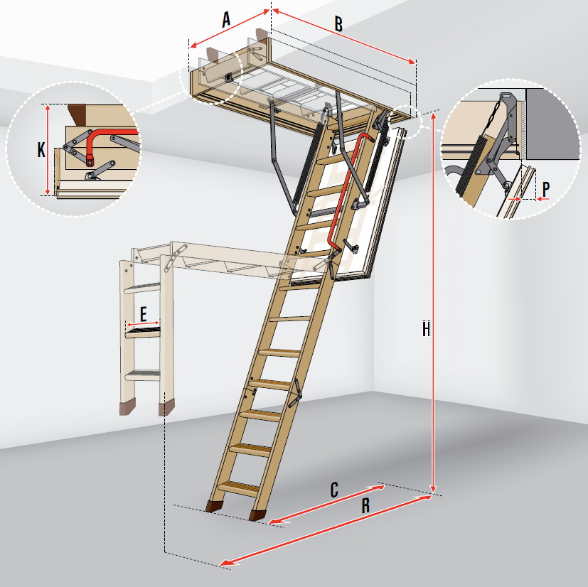 fakro loft ladder ltk energy. Black Bedroom Furniture Sets. Home Design Ideas