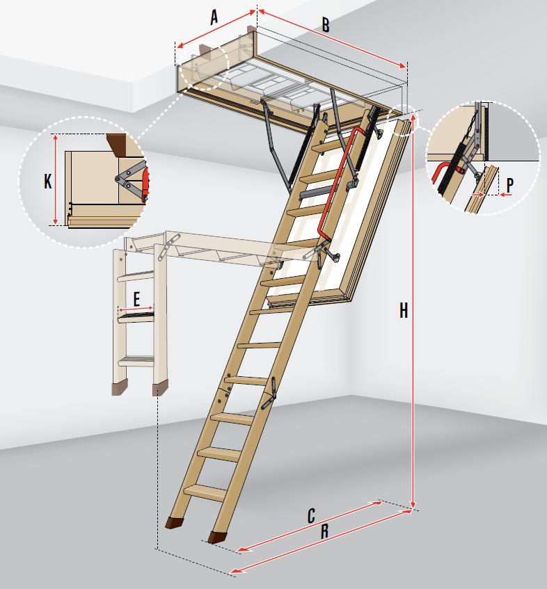 fakro loft ladder lwt. Black Bedroom Furniture Sets. Home Design Ideas