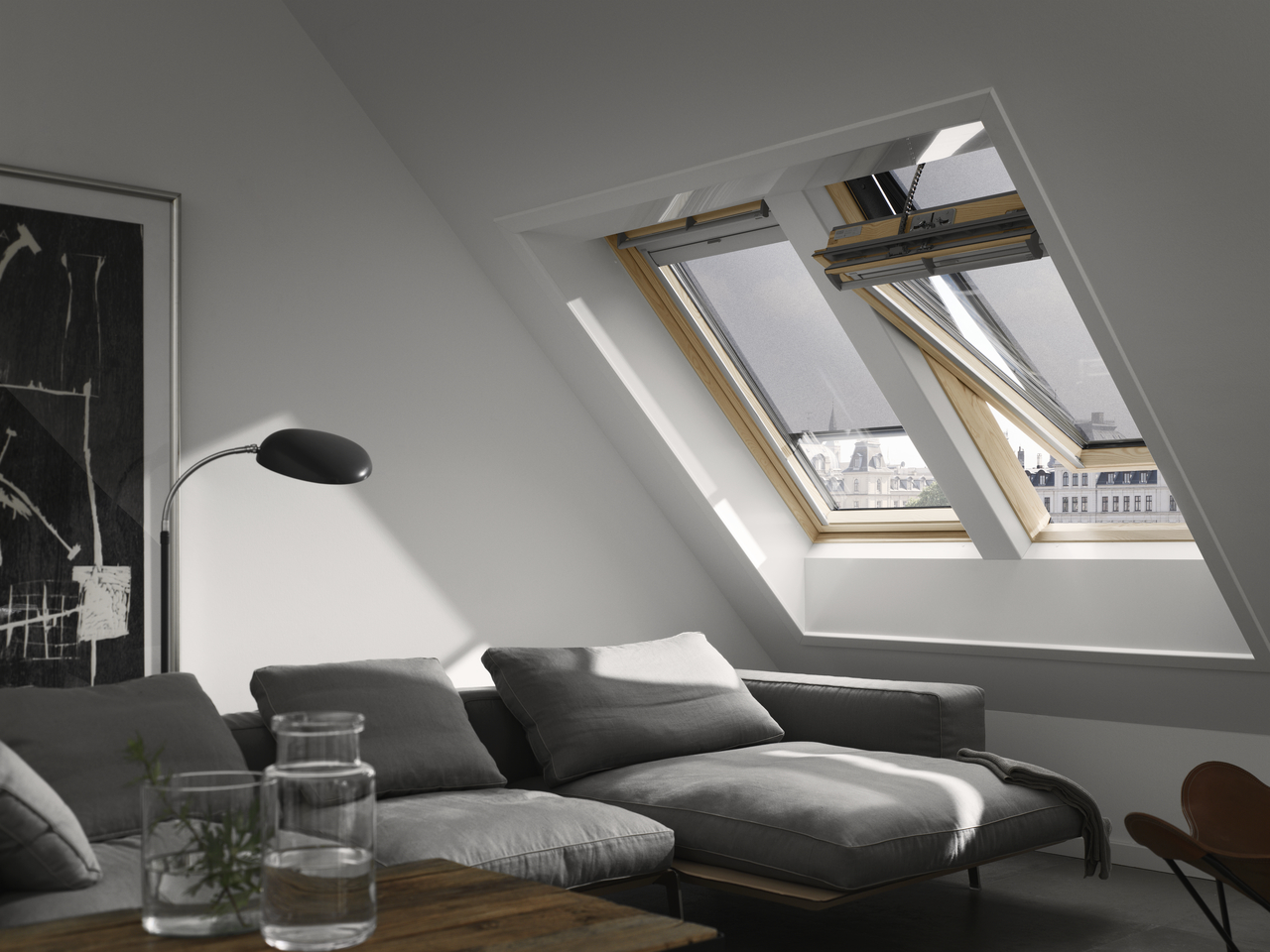 dachfenster velux ggl 3066 integra. Black Bedroom Furniture Sets. Home Design Ideas