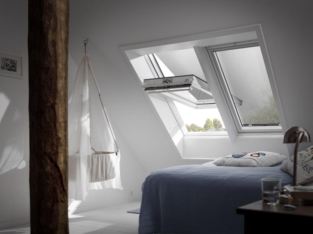 dachfenster velux ggu 0034 mit milchglas. Black Bedroom Furniture Sets. Home Design Ideas
