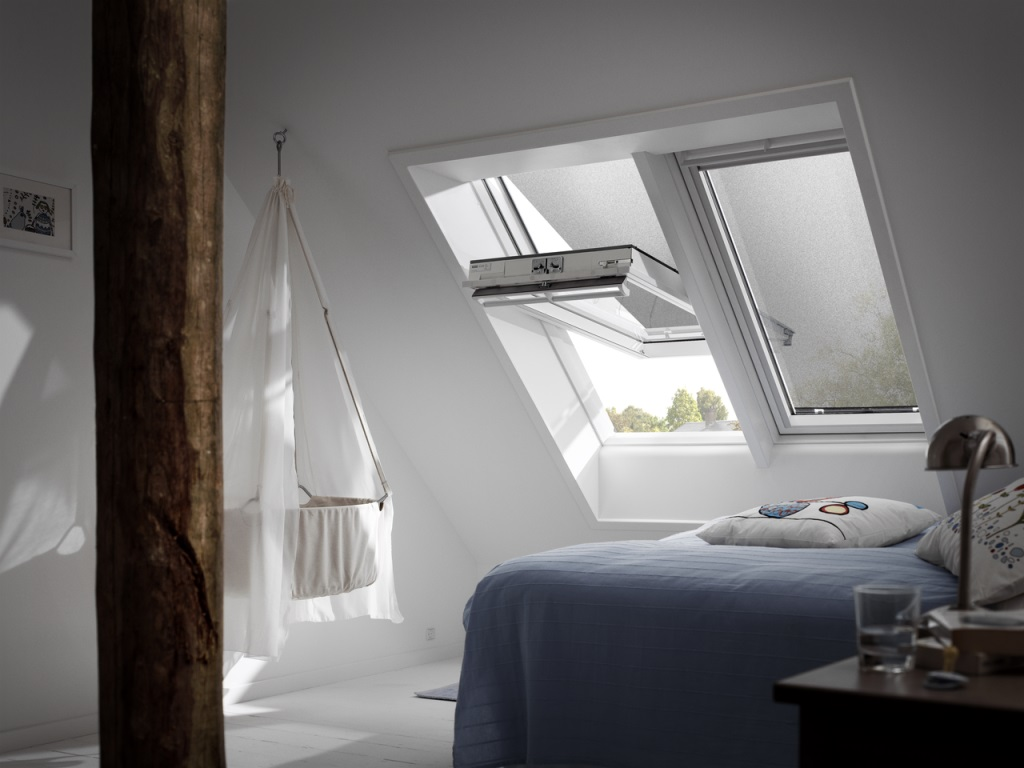 velux gpu sk08 simple roof window velux ggu q white. Black Bedroom Furniture Sets. Home Design Ideas
