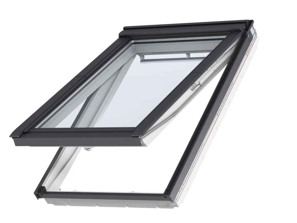 Roof window velux gpu 0066 white polyurethane finish for Velux glass