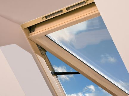 Dachfenster optilight vk aus holz - Dachfenster skylight ...