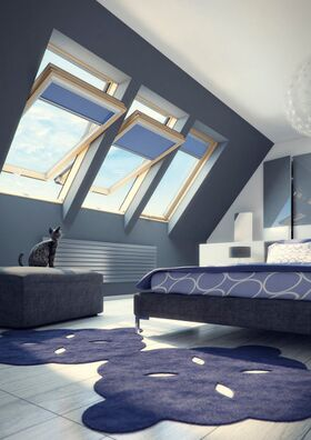 dachfenster fakro ftp v u4 3 fach verglasung schwingfenster aus holz. Black Bedroom Furniture Sets. Home Design Ideas